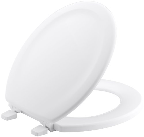 KOHLER K-4648-0 Stonewood Molded-Wood Toilet Seat for 12.17