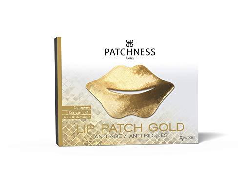 PATCHNESS Gold Patch pour Lèvres Anti-Âge Collagène Extraits d'Or 5 Paires 3760241500192