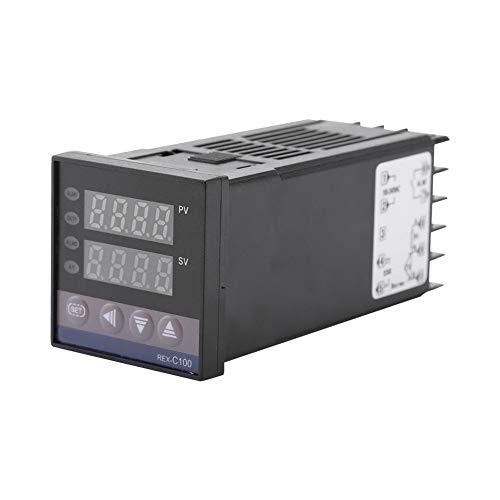 Nikou Termostato Digital - 0-1300 AC110V-240V Alarma de Temperatura REX-C100 Kits de Controlador PID Digital LED