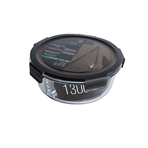 Contenants de stockage en verre avec couvercles hermétiques pour boîte à nourriture, portable respectueux de l'environnement, résistant à la chaleur et au froid carré/rond 15
