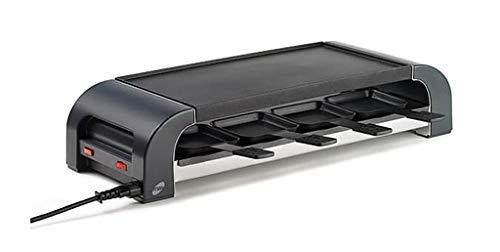 Stöckli Grill PIZZAmax8, schwarz,  Minipizzas Raclette Grilladen, 8 Personen 2800.02