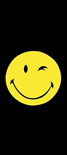 Badetuch Smiley/Strandtuch/Handtuch/Strandlaken - Größe: ca.92 x 187 cm - Farbe: Schwarz Smiley