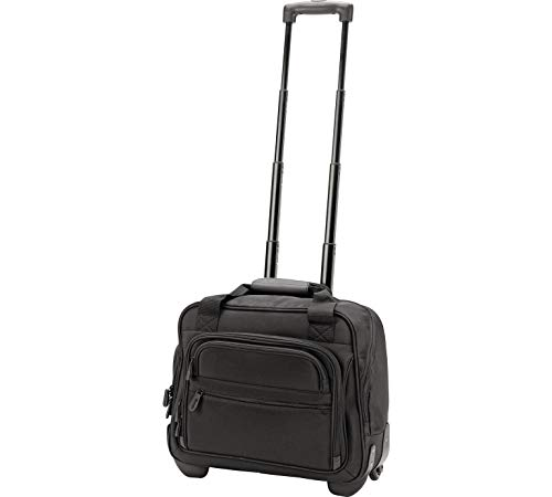 IT Bagage Zwart On Board Cabin Size Laptop Trolley koffer