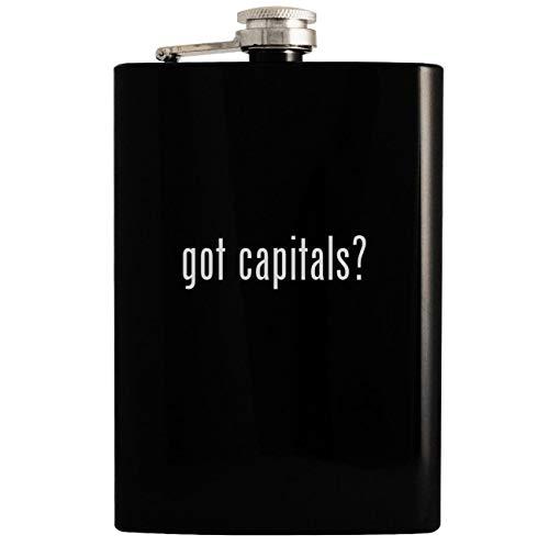 got capitals? - Black 8oz Hip Drinking Alcohol Flask