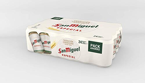 San Miguel - Especial Cerveza Dorada Lager, 5.4% Volumen de Alcohol - Pack de 24 x 33 cl