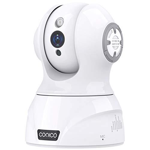 2021最新型500万画素Conico 監視カメラ ネットワークカメラ IP監視防犯 ペット監視 ベビーモニター 子供見守り 老人介護 屋内防犯 IPカメラ WiFi 留守番カメラ ペットカメラ AIフォロー 双方向音声 暗視機能 動体検知 顔検知 音声検知 高解像度 遠隔操作 警報通知 録画可能 日本語アプリ 技適&PSE認証済み 日本語説明書付き ホワイト
