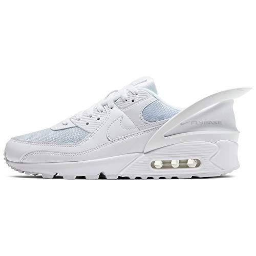 Nike Air MAX 90 FLYEASE, Zapatillas para Correr Hombre, Blanco, 40 EU