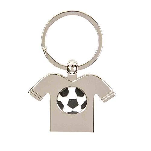 """Lote de 10 Elegantes Llaveros Decorativos Metal""""Camiseta Fútbol"""". Recuerdos y Complementos. Regalos Originales. Llaves.Detalles de Bodas, Comuniones, Bautizos, Cumpleaños. CC."""