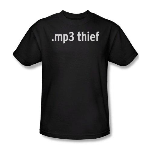 Ladrón Mp3 - T-Shirt Hombres De Negro, Small, Black