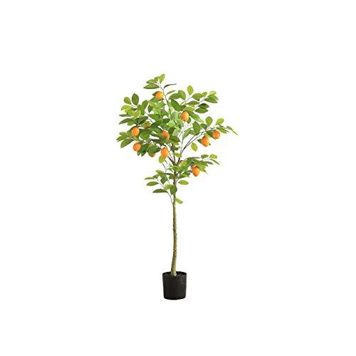 YUXI8541NO Künstlicher Bonsai Baum 43-Zoll-Schwarze künstliche Kunststoff-Topfpflanzen, schöne Faux-Zitronen-Baum-Pflanzen-Dekoration für Wohnkultur künstlicher Baum