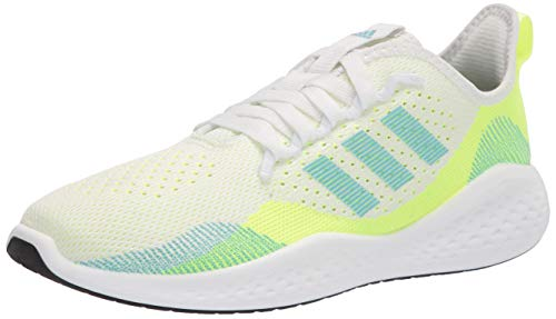 adidas womens Fluidflow 2.0 Running Shoes, White/Hazy Sky/Hi-res Yellow, 8.5 US