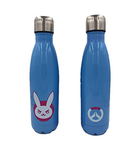 Overwatch D Va Bunny Insulated Stainless Steel 16 Ounce Water Bottle - Baby Blue