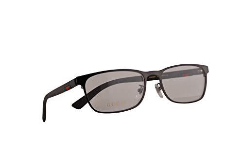 Gucci GGG0425O 56-17-140 - Gafas de sol, color marrón con lente transparente