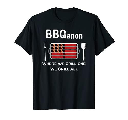 BBQanon para Woke Americans a Funny Barbacoa Vintage Camiseta