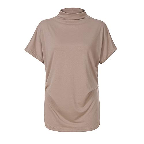 Great Price! Lovor Women's Plus Size Short Sleeve Solid Boat Neck V Neck Dolman Top Loose with Side ...