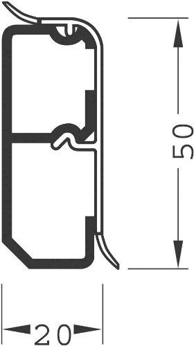 Preisvergleich Produktbild Tehalit Sockelleistenkanal SL 200570 rw