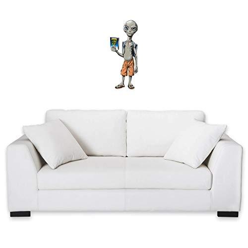 okiWoki - Adhesivo Decorativo para Pared Paul el Extraterrestre, diseño de ánimo parórico (Parodie Paul Alien)