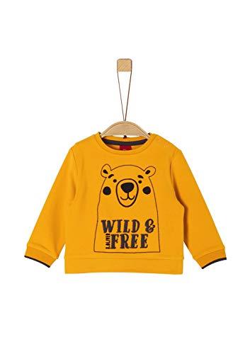 s.Oliver Baby-Jungen 65.909.41.2760 Sweatshirt, Gelb (Dark Yellow 1549), (Herstellergröße: 86)