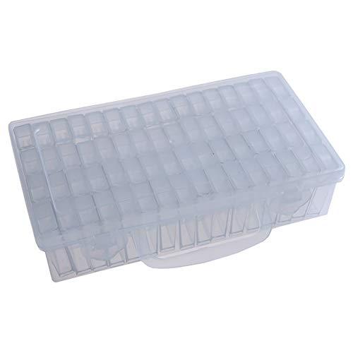 Hi Collie 64 Gitter Nägel Strass Perlen DIY Craft Aufbewahrungsbox Fall Container Organizer Aufbewahrungskoffer Transparenter Koffer