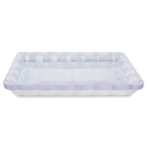 6 Multi-uso Bandejas para Servir – Azafate de Cocina Plástico y Reutilizable – Fuente de Accesorio de Fiesta– Articulo...