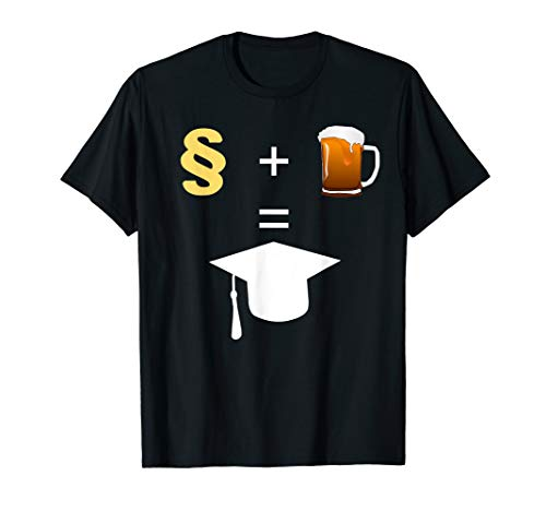 Paragraphen Bier Abschluss Rechtsanwalt Jurastudenten T-Shirt