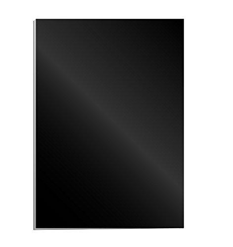 Fellowes 5378504 Portadas para encuadernar de cartón alto brillo Chromolux, extra rígido, 250 micras, 100% reciclables, formato A4, con certificación FSC, pack de 100, color negro