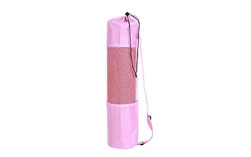 Leoie - Bolsa para esterilla de yoga y deportes de interior con correa ajustable para pilates, fitness, construcción de cuerpo, equipo deportivo, rosa, medium