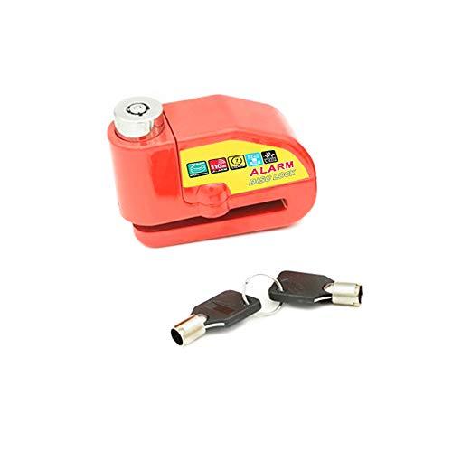 Gecheer - Candado de freno de disco de alarma para motocicleta, antirrobo,...