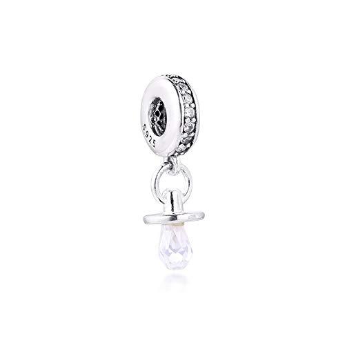 XIYANG DIY Passt Für Original Pandora Armbänder 925 Sterling Silber Fit Pandora Armband Baby's Dummy Anhänger Schnuller Perlen Charms Schmuckherstellung