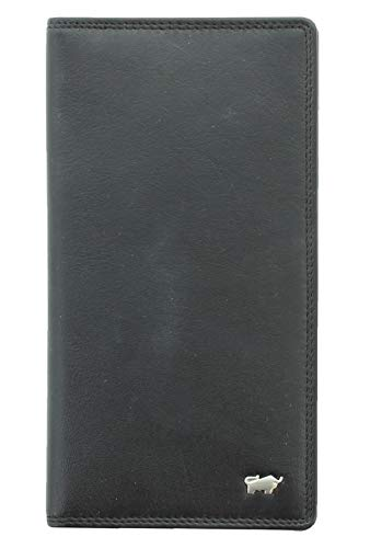 BRAUN BÜFFEL Brieftasche Golf 2.0 - aus echtem Leder (schwarz, 14 Fächer)