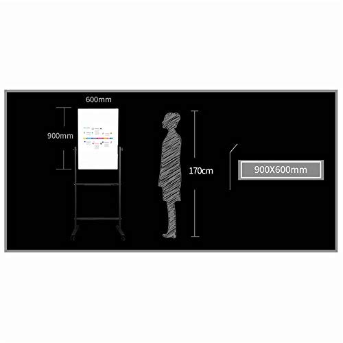 Ryyland-Home Tableau Blanc H-Support avec la Roue Universelle Whiteboard Double Face magnétique Mobile Demo Universal Board Présentation for Les Bureaux Whiteboard Tableau Blanc Mobile