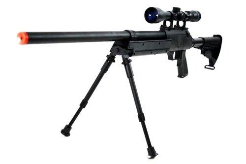 470 fps wellfire aps sr-2 modular full metal bolt action sniper rifle w/ scope pkg mb06d(Airsoft Gun)
