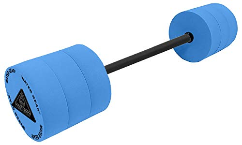 Water Gear Eco Bar Float - Water Fitness and Pool Exercise - Great For Upper Body and Minimum Stress Training - Padded