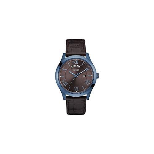 GUESS Reloj Analógico para Hombre de Cuarzo con Correa en Cuero W0792G6
