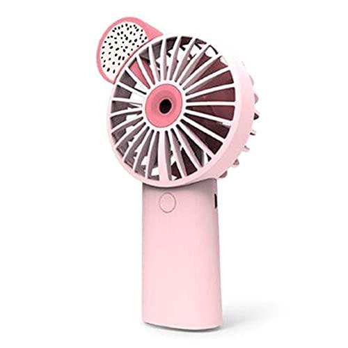 DFJU Ventilador de névoa de água portátil Rosa elétrico USB recarregável portátil Mini Ventilador de refrigeração umidificador de ar condicionado para Exterior