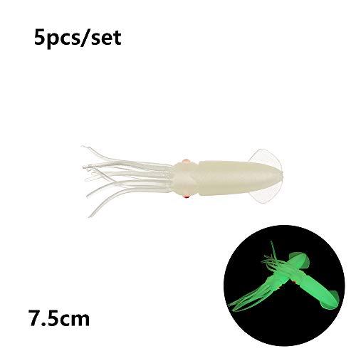 Salzwasser Octopus Köder Angeln Tackle langer Schwanz Squid Skirt Lure