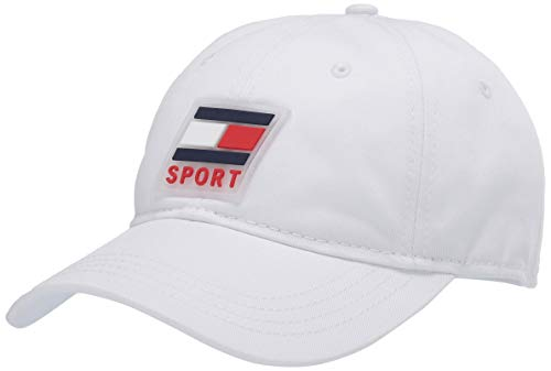 Boné de beisebol masculino esportivo Jace da Tommy Hilfiger, Classic White, One Size