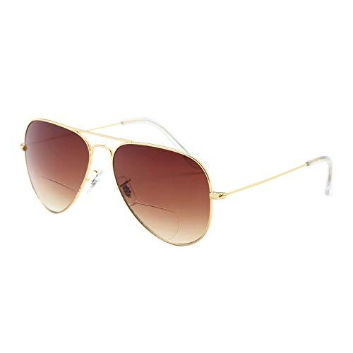 LianSan Bifocal Sunreaders per uomo donna anni '70 / '80 retrò designer e occhiali da sole stile pilota tonalità UV400 L8022