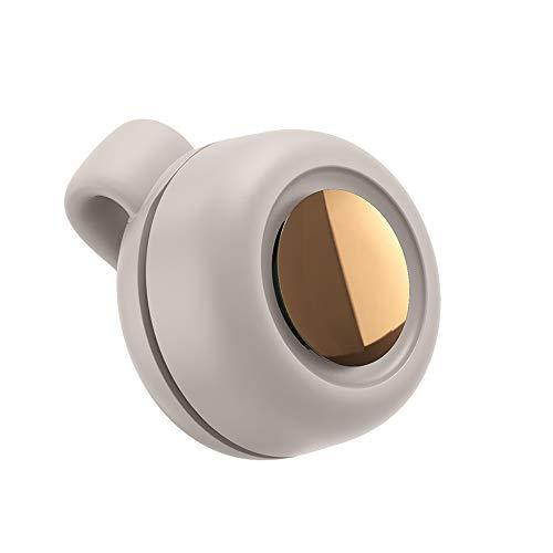 SXYB USB-Fan, blasteunlose Fans, freie Wahl zwischen Zwei Arten, Ultra-leiser Modus, hinterer Clip, dreiköpfige Frees-Anpassung, 360-Grad-Windrichtung, für Fitness, Outdoor,Weiß