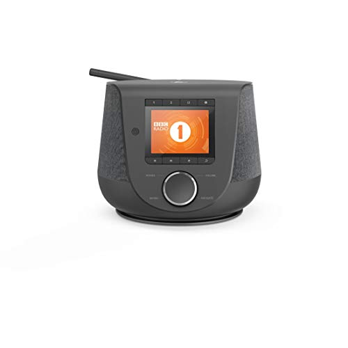 Hama Internetradio mit Digitalradio-Empfang & Handy-Ladefunktion, Smart Radio DIR3200SBT (WLAN/DAB/DAB+/FM, Bluetooth/Spotify Streaming, Stationstasten, Radio-Wecker, UNDOK-App) Mini Internet Radio
