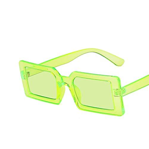 YUANBOO Gafas de Sol de la Calle Fluorescente Verde Gafas de Sol de Moda Diseño de la Marca de la Marca Negro Marco Grueso de la Moda de la Manera Fresca de Las Gafas de Sol Accesorios