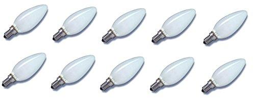 10 x Glühlampe Glühbirne Kerze E14 40W 40 Watt matt 230V Leuchtmittel