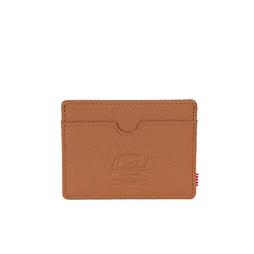 Herschel Charlie Leather RFID Tan Pebbled Leather