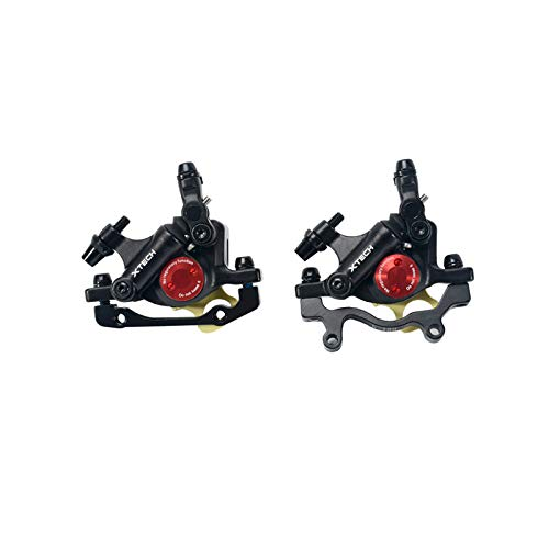 Zoom - Pinzas de freno de disco hidráulico para bicicleta de montaña delantera y trasera (negro)