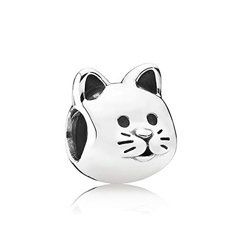 LIIHVYI Pandora Charms para Mujeres Cuentas Plata De Ley 925 Chicas Gato Curioso Compatible con Pulseras Europeos Collars