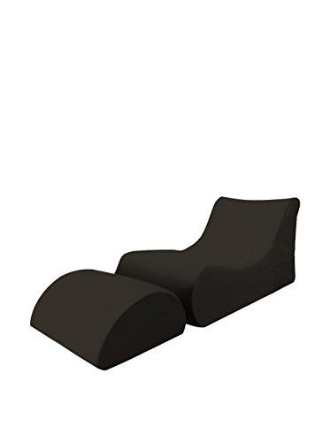 Dim: 70x170x70 h cm Pouff chaise longue Mat: Poliestere. Marea A1 Col: Arancione 13Casa
