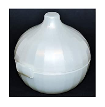 Tupperware Onion Keeper Round Container Pearl White