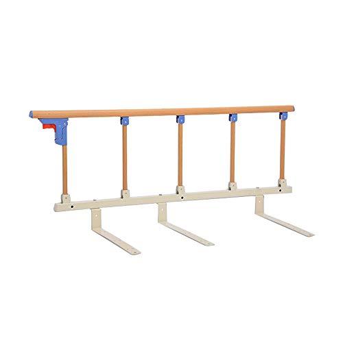 LYFHL Faltbare Bettgitter-Sicherheits-Seitenschutz für ältere Menschen, Erwachsene unterstützen Griff-Handicap-Bettgeländer Krankenhaus-Metallgriffstoßstange (Farbe : Wood Grain)
