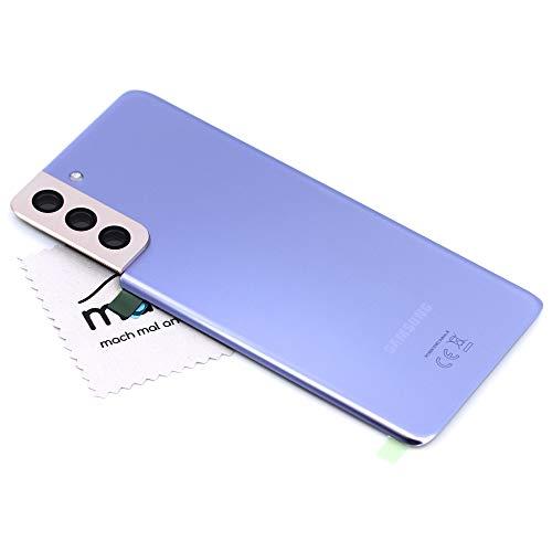 Tapa de batería para Samsung Original para Samsung Galaxy S21 Plus (G996B) Violeta Cubierta posterior Panel trasero con pantalla paño de limpieza mungoo
