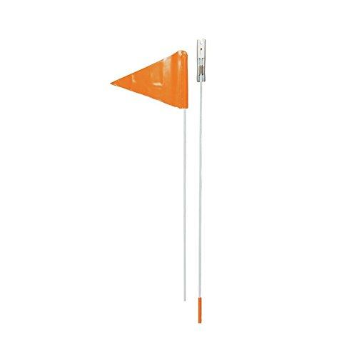 Point bandierina di Sicurezza per Bicicletta per Bambini siwi 800–2Pezzi–180cm (Wimpel + Asta), Leuchtorange, 13601200